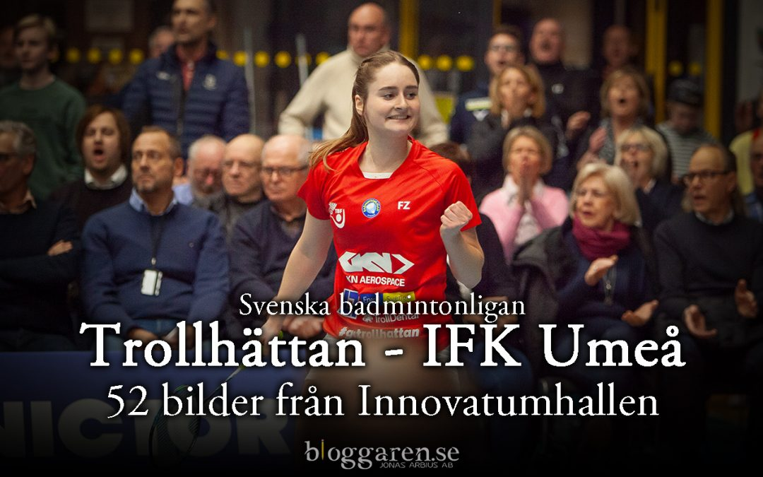 Sportfoto:  SM-kvartsfinalseger för Trollhättans badminton